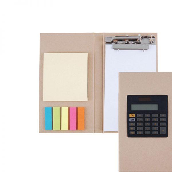 prancheta bloco calculadora