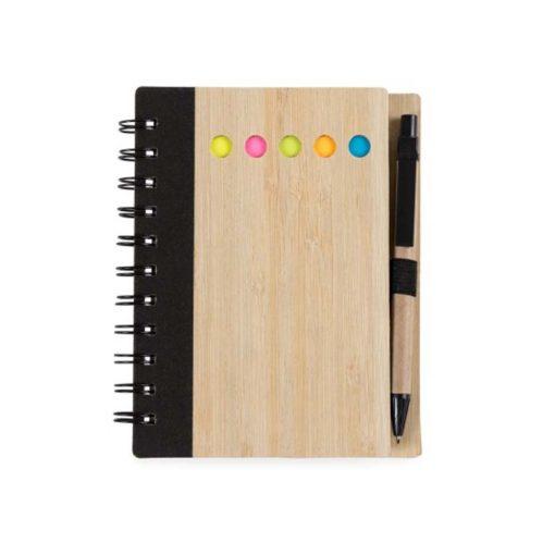 Caderno capa madeira 1